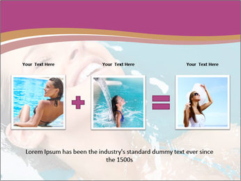 Happy Woman In Water PowerPoint Templates - Slide 22