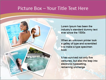 Happy Woman In Water PowerPoint Templates - Slide 23