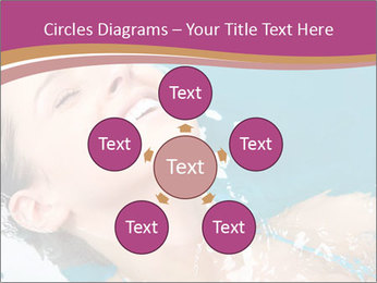 Happy Woman In Water PowerPoint Templates - Slide 78