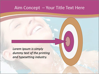 Happy Woman In Water PowerPoint Templates - Slide 83