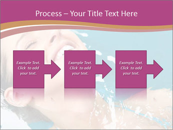 Happy Woman In Water PowerPoint Templates - Slide 88