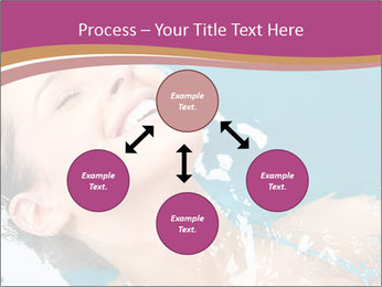 Happy Woman In Water PowerPoint Templates - Slide 91