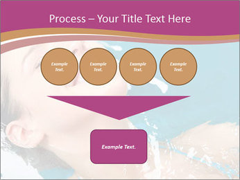 Happy Woman In Water PowerPoint Templates - Slide 93