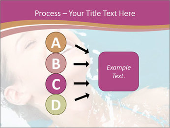 Happy Woman In Water PowerPoint Templates - Slide 94