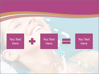 Happy Woman In Water PowerPoint Templates - Slide 95