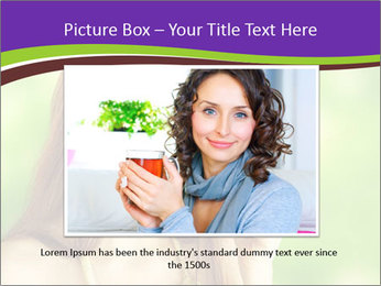 Woman Loves Herbal Tea PowerPoint Template - Slide 16