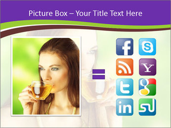 Woman Loves Herbal Tea PowerPoint Template - Slide 21