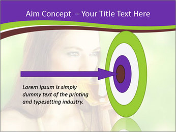 Woman Loves Herbal Tea PowerPoint Template - Slide 83