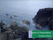 Canoeing Team PowerPoint Template