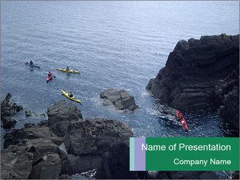 Canoeing Team PowerPoint Templates - Slide 1