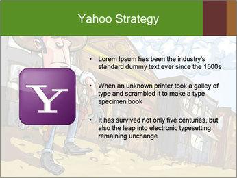 Western Gunman Cartoon PowerPoint Template - Slide 11