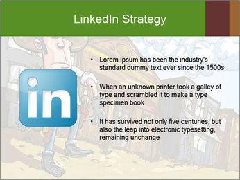 Western Gunman Cartoon PowerPoint Template - Slide 12