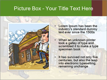 Western Gunman Cartoon PowerPoint Templates - Slide 13