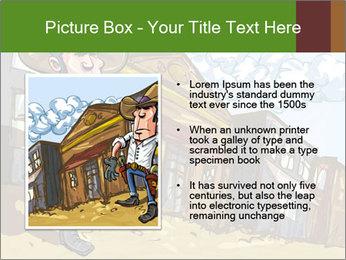 Western Gunman Cartoon PowerPoint Template - Slide 13