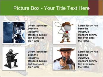 Western Gunman Cartoon PowerPoint Template - Slide 14