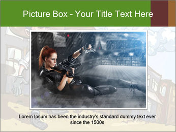 Western Gunman Cartoon PowerPoint Template - Slide 15