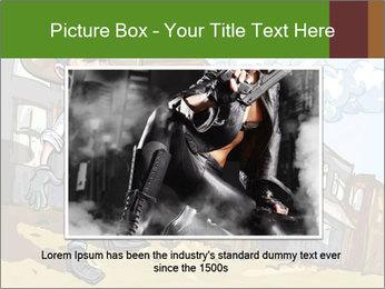 Western Gunman Cartoon PowerPoint Template - Slide 16