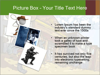 Western Gunman Cartoon PowerPoint Template - Slide 17