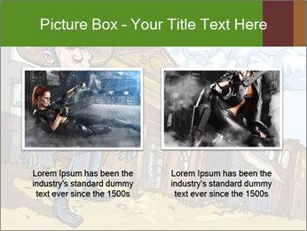 Western Gunman Cartoon PowerPoint Template - Slide 18