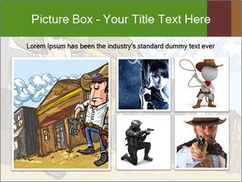 Western Gunman Cartoon PowerPoint Template - Slide 19