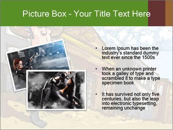 Western Gunman Cartoon PowerPoint Template - Slide 20