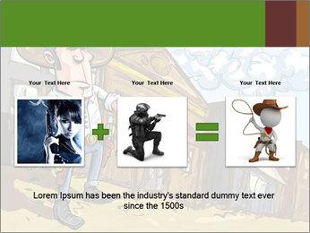 Western Gunman Cartoon PowerPoint Template - Slide 22