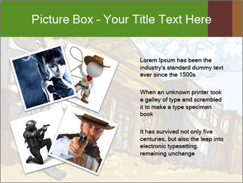 Western Gunman Cartoon PowerPoint Template - Slide 23