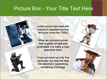 Western Gunman Cartoon PowerPoint Templates - Slide 24