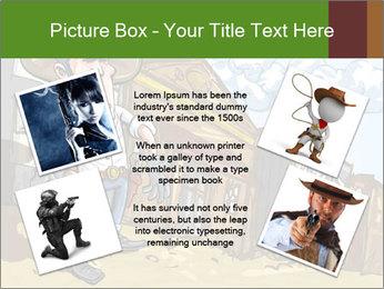 Western Gunman Cartoon PowerPoint Template - Slide 24