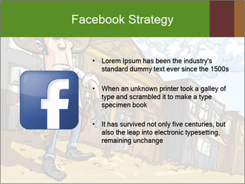 Western Gunman Cartoon PowerPoint Template - Slide 6
