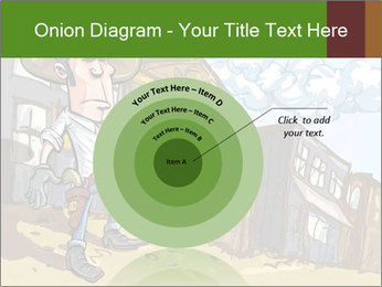 Western Gunman Cartoon PowerPoint Template - Slide 61