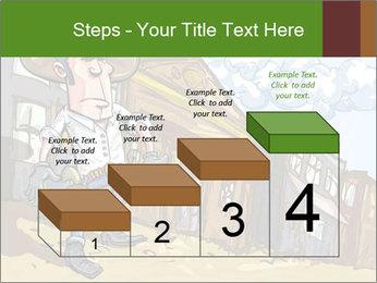 Western Gunman Cartoon PowerPoint Template - Slide 64