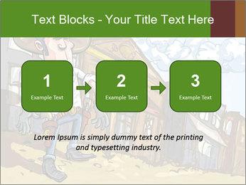 Western Gunman Cartoon PowerPoint Template - Slide 71