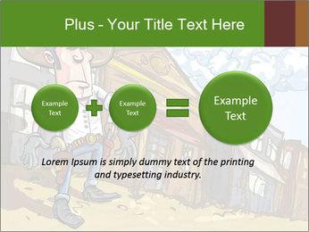 Western Gunman Cartoon PowerPoint Template - Slide 75