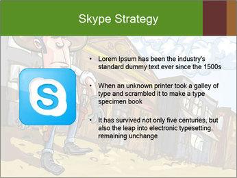 Western Gunman Cartoon PowerPoint Template - Slide 8