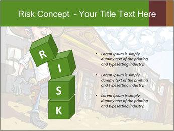 Western Gunman Cartoon PowerPoint Template - Slide 81