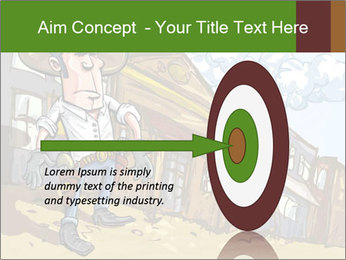 Western Gunman Cartoon PowerPoint Templates - Slide 83