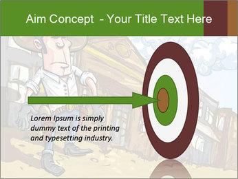 Western Gunman Cartoon PowerPoint Template - Slide 83