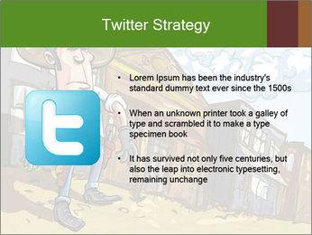 Western Gunman Cartoon PowerPoint Template - Slide 9