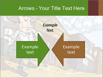 Western Gunman Cartoon PowerPoint Template - Slide 90