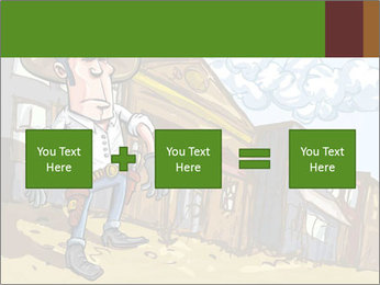 Western Gunman Cartoon PowerPoint Template - Slide 95