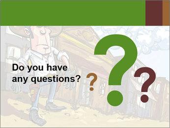 Western Gunman Cartoon PowerPoint Template - Slide 96
