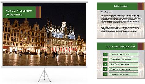 Belgium Main Square PowerPoint Template