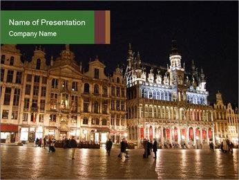 Belgium Main Square PowerPoint Template - Slide 1