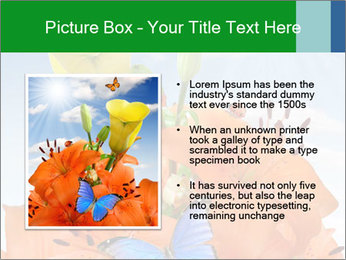 Flowers And Butterfly PowerPoint Templates - Slide 13