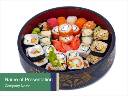 Rolled and sushi PowerPoint Templates