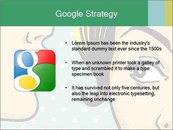 Woman telling secrets PowerPoint Template - Slide 10