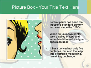 Woman telling secrets PowerPoint Template - Slide 13