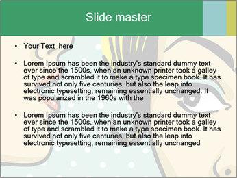 Woman telling secrets PowerPoint Template - Slide 2