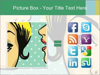 Woman telling secrets PowerPoint Template - Slide 21